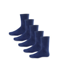 Boys' Ankle Socks 5 Pack - Navy