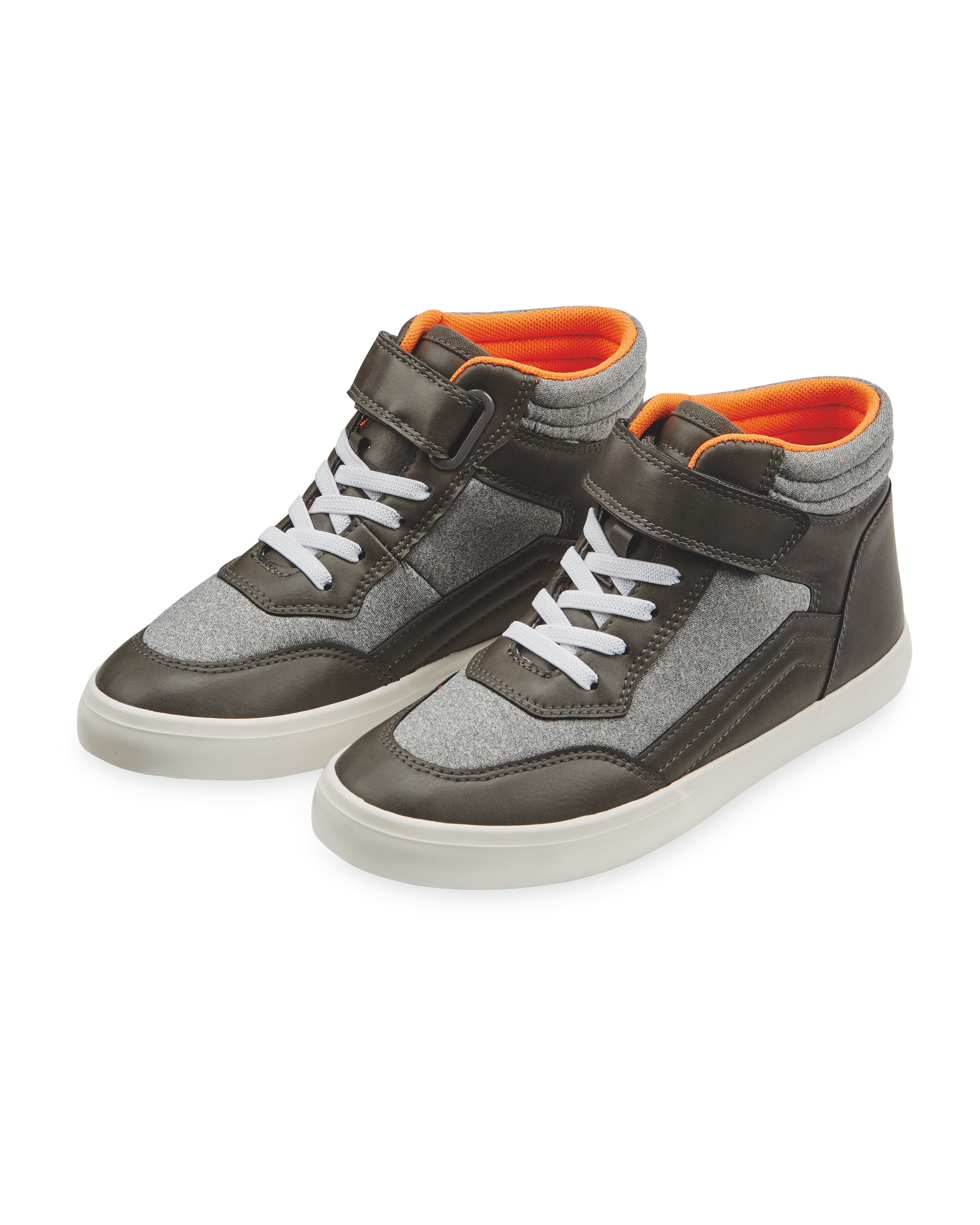 56db92b4937af Lily & Dan Grey Hi-Top Trainer - ALDI UK