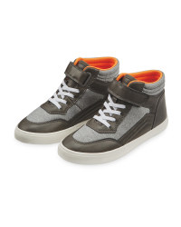 Lily & Dan Grey Hi-Top Trainer