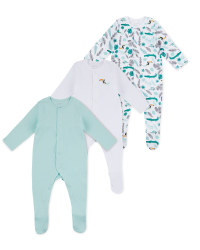 Lily & Dan Icy White Sleepsuits