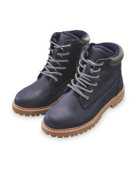 Boy's Navy Winter Boots