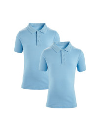 Boys' Polo Shirts 2 Pack - Blue