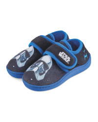 Boys' Touch Close Black Slippers