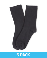 Lily & Dan Boys Ankle Socks 5 Pack - Black
