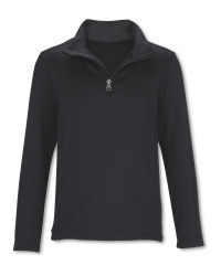 Crane Children's Black Ski Top