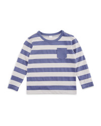 Lily & Dan Boys Blue Stripy Top