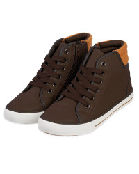 Kids' Brown Hi-Top Boot