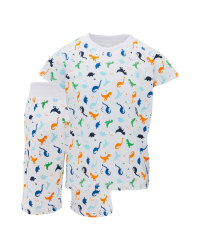 Children's Dinosaur Shorty Pyjamas
