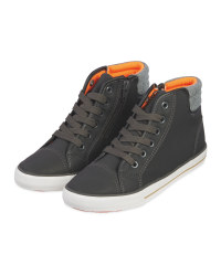 Kids' Grey Hi-Top Boot