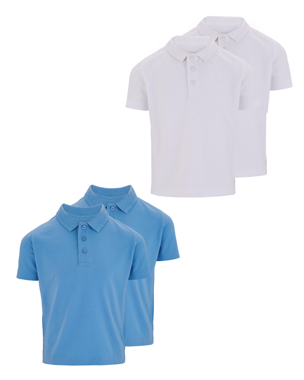 Boys Polo Shirt 2 Pack - ALDI UK