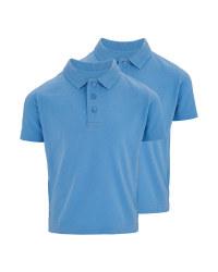 Boys Polo Shirt 2 Pack - Blue