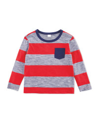 Lily & Dan Boys Red Stripy Top