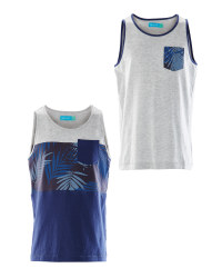 Lily & Dan Boys Vest Top 2-Pack