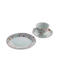 Bright Cup, Saucer and Cake Plate