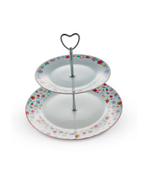 Bright Porcelain Cake Stand
