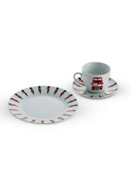British  Cup, Saucer and Cake Plate
