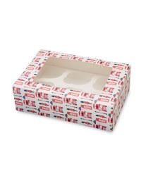 British 6 Cupcake Holder Box 2-Pack