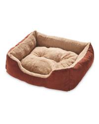 Brown Large Plush Pet Bed