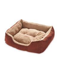 Brown Medium Plush Pet Bed