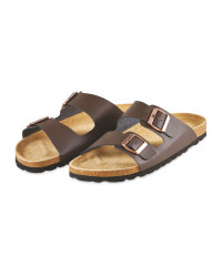 Avenue Men's Brown Footbed Sandals