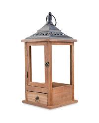 Brown Indoor Wooden Lantern