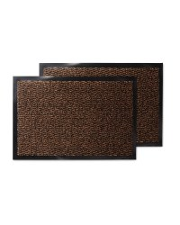Brown Pattern Twin Pack Utility Mats