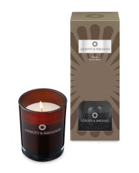 Brown Reed & Candle Set