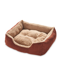 Brown Small Plush Pet Bed