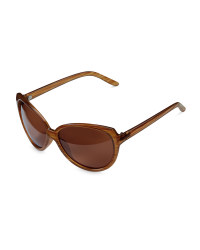 Brown Striped Polarised Sunglasses