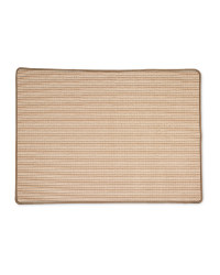 Brown Stripes Washable Utility Mat