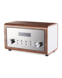 Brown Wooden DAB & FM Radio