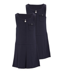 Lily & Dan Classic Pinafore 2 Pack - Navy