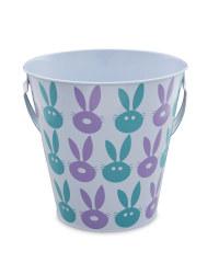 Bunny Print Egg Hunt Tin