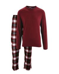 Burgundy Mens Pyjamas
