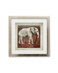 Burnished Copper Elephant Wall Art