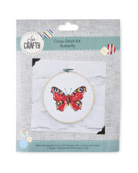 So Crafty Butterfly Cross Stitch Kit