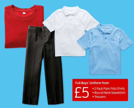 7ed876c46 ... It's full marks for value for this Boy's Back to School Uniform from  only £5. Great value, great quality and all together an amazing price!