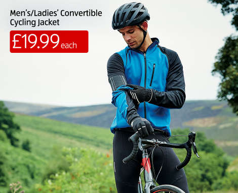 ... Adult cycling jacket converts to a gilet by unzipping the arms.  Breathable 4b5d3fff7