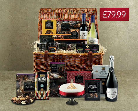 Christmas Feast Hamper; Filled with everything they need to have a fabulous Christmas feast, including perfect puds, sensational salted caramel hot ...