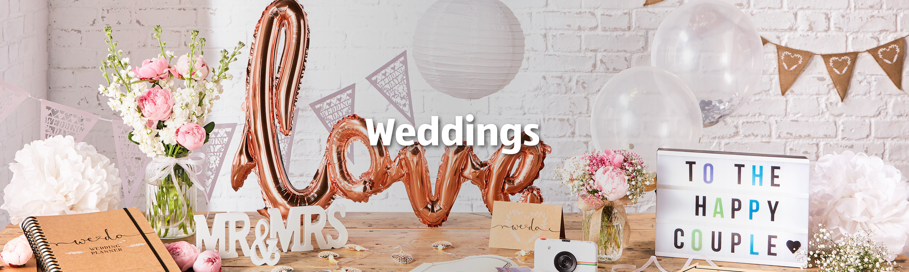 02441107597 All the wedding supplies you need to make the big day amazing