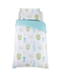 Reversible Cactus Single Duvet Set