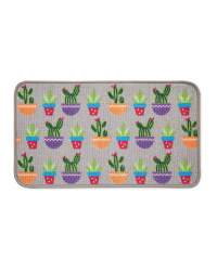 Cactus Washable Door Mat