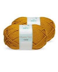So Crafty Camel Chunky Yarn 2 Pack