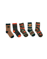 Camo Print Children's Socks 5 Pack