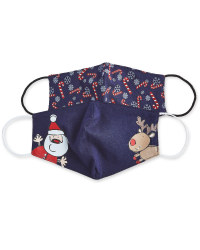 Candy Snowflake Face Covering 2 Pack