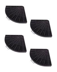 Cantilever Parasol Base 4 Pack