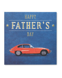 Car Father's Day Square Card