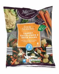 Carrot, Cauliflower And Green Beans