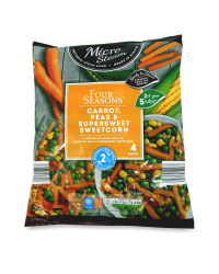 Carrot, Peas & Sweetcorn Vegetables