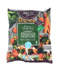 Carrots, Broccoli And Sweetcorn